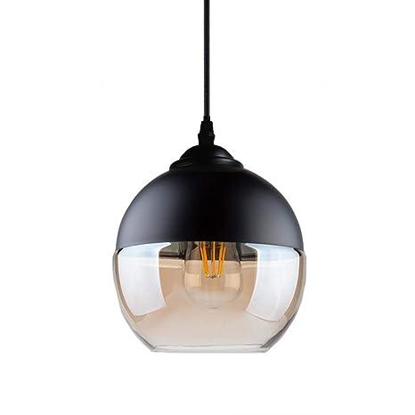 Lámpara colgante de vidrio Moderno Industrial Acabado de ...