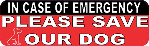 Please Save Animals (10in x 3in In Case Of Emergency Please Save Our Dog Sticker House Sign by StickerTalk)