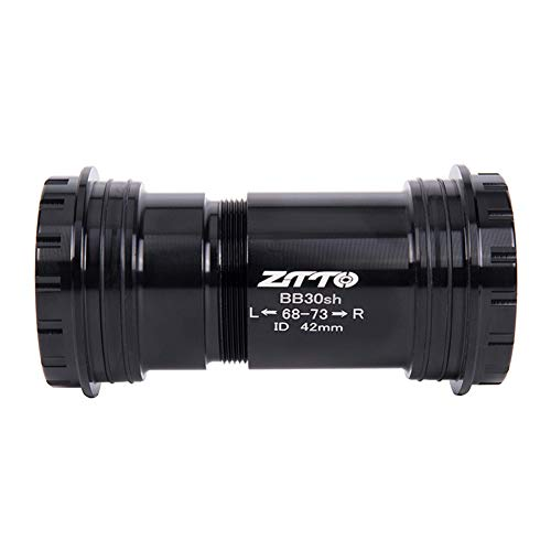 (zzpopGG Bicycle,Central axis,Dental Plate,BB30 Mountain Road Bike Threaded Bearing Bottom Bracket for Shimano GXP Crankset Black for Shimano)