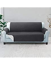 Artiss Sofa Cover Quilted Couch Covers Lounge Protector Slipcovers Chair 3 Seater Dark Grey