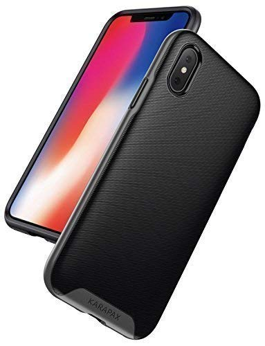 iPhone X Case, iPhone 10 Case, Anker KARAPAX Breeze Case Military-Grade Certified Protection With 3D Texture Protective Case [Support Wireless Charging] [Slim Fit] for Apple 5.8 In iPhone X-Gunmetal