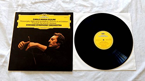 Carlo Maria Giulini LP Mussorgsky Pictures At An Exhibition and Prokofieff Symphonie Classique - Deutsche Grammophon 1977 - Near Mint Cover - German Import - Chicago Symphony - Near Mall Chicago