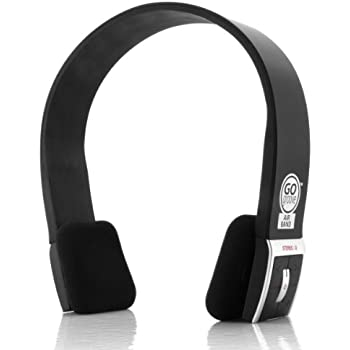 GOgroove AirBAND Wireless Bluetooth Stereo Headphones with Microphone and Onboard Controls - Compact & Adjustable , Sleek Headband Design , & 8 Hour Battery Life