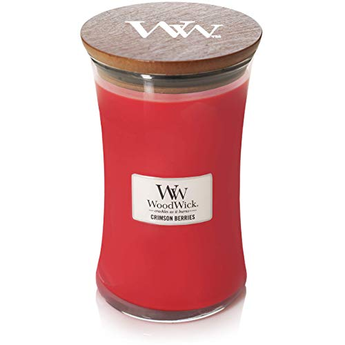 Woodwick Large Candle - Crimson Berries, Red