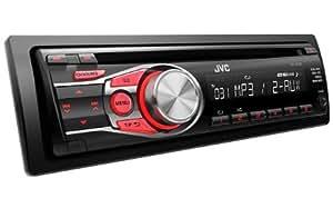 JVC KD-R331E - Radio CD para coche (200 W, doble AUX-IN), color negro
