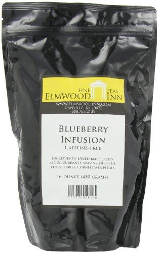 Elmwood Inn Fine Teas, Blueberry Caffeine-Free Fruit Infusion, 16-Ounce Pouch