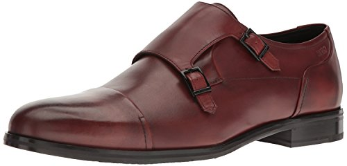HUGO by Hugo Boss Men's Temptation Double Monk Work Shoe, Rust/Copper, 7.5 UK/8.5 M - Uk Shop Boss Hugo