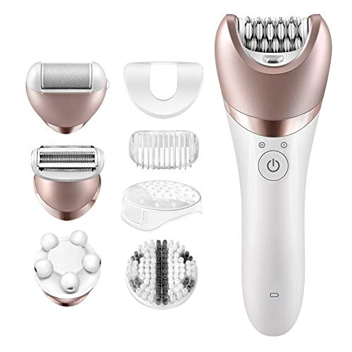 ANIMOAO 1pc 5 in 1 Electric Women Epilator Lady Shaver Razor Callus Remover Facial Cleansing Brush Female Bikini Trimmer Shaving Machine