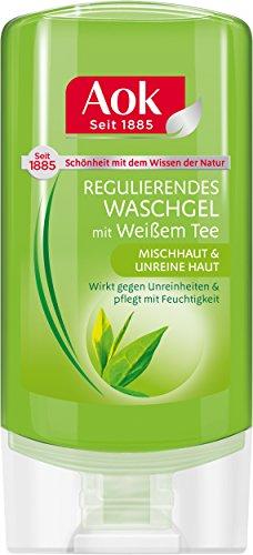 Aok Regulierendes Waschgel mit weißem Tee, 6er Pack (6 x 150 ml)