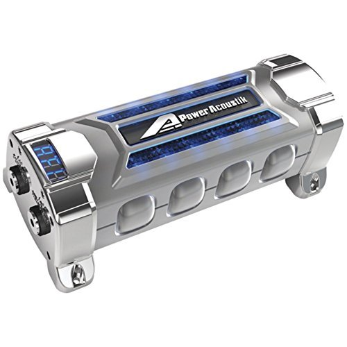 Power Acoustik PCX-3F Digital Capacitor 3-Farad 24V DC W/Blue Voltage Display Consumer Electronics (Farad 24v Capacitor)