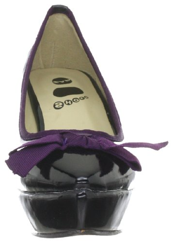 Schleife Vlan Paspel Schwarz Lila Chaussures Noir Noir verni amp; Crocodile Femmes qwUzdUf