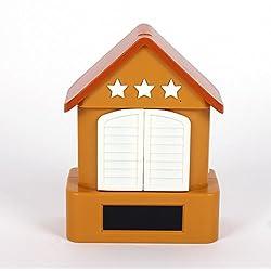 GAOHL LCD Screen Cuckoo Alarm Clock House Clock With Gun,Shoot The Bird-Creative , brown