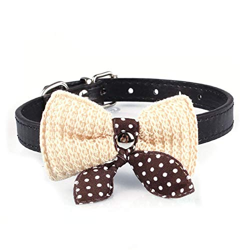 V-A-O-L Knit Bowknot Adjustable Dog Puppy Pet Collars for sale  Delivered anywhere in USA