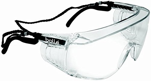 Bolle Safety Clear Safety Glasses, Anti-Fog, Scratch-Resistant, ()
