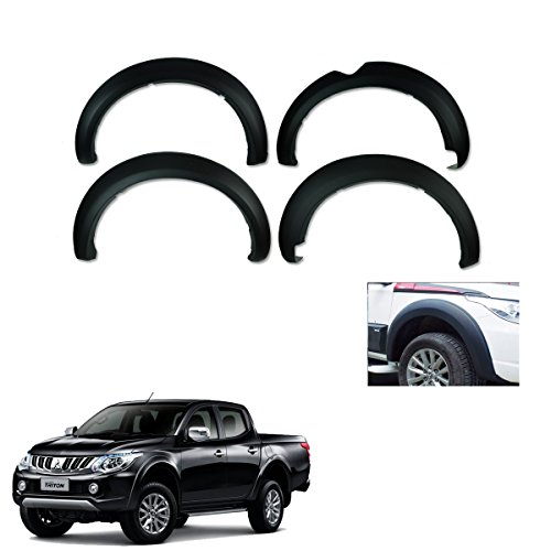 Powerwarauto Fender Flares Wheel Matte Black 6