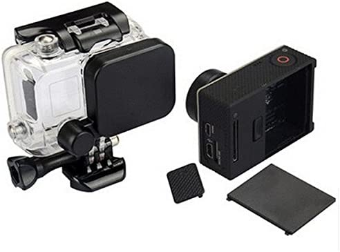 Camera Lens Cap And Battery Door Replacement With Side Door Cover For GoPro HD Hero 4