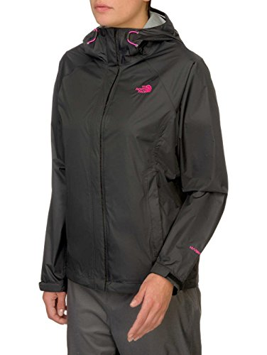 The North Face Womens Venture Jacket (Small, TNF Black/Pink Logo)