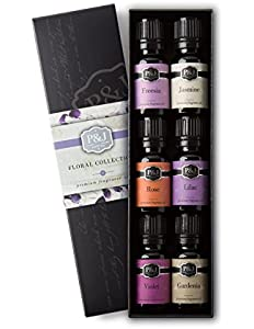 Floral Set of 6 Premium Grade Fragrance Oils - Violet...