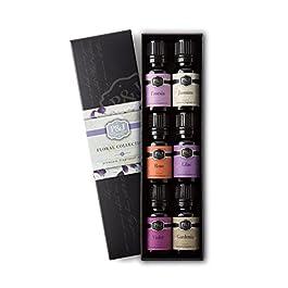 P&J Trading Floral Set of 6 Premium Grade Fragrance Oils – Violet, Jasmine, Rose, Lilac, Freesia, Gardenia – 10ml