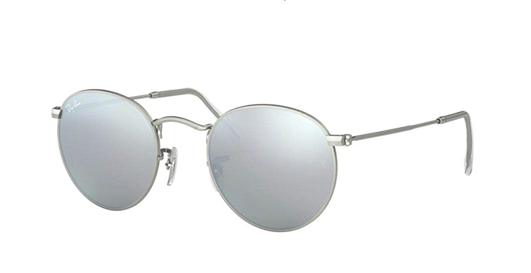 Amazon.com  Ray-Ban Round RB 3447 019 30 50mm Matte Silver   Mirror Silver  Special Series  Shoes 3b039edb160d