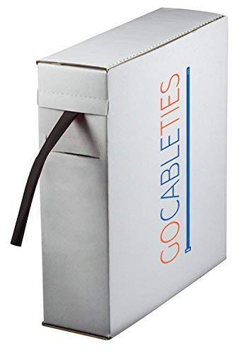 Gocableties - Mini carrete de tubo termorretractil de alta calidad, 2 4 mm x 11 m, color negro, negro