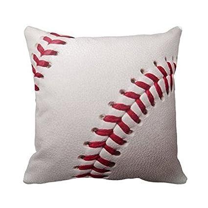 Pelotas – Plantilla de antecedentes de béisbol personalizar almohadas de alcance personalizado 18 x 18 pulgadas