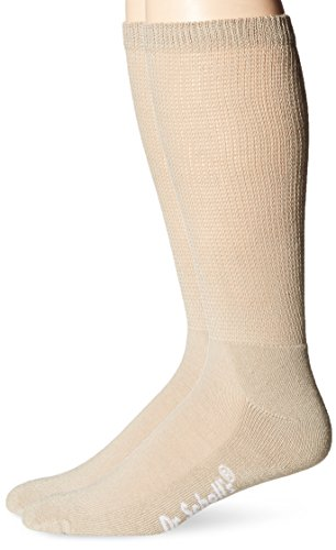 Dr. Scholl's Men's 2 Pack Big and Tall Non-Binding Crew Socks, Khaki, Shoe: 12.5-15