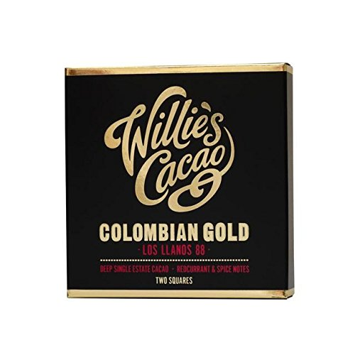 Willie's Cacao Colombian Gold Dark Chocolate 88% - 80g 88 Cherry Bars