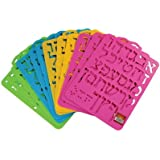 Plastic Stencils of Hebrew Aleph Bet - Assorted Colors