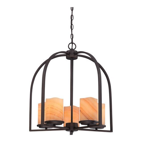 Quoizel CKAD5005PN Aldora with Palladian Bronze Finish,  Chandelier and 5 Lights,  - Cage Quoizel Chandelier