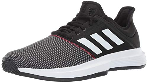 adidas Men's Gamecourt, Black/White/Shock red 8 M US by adidas (Image #1)
