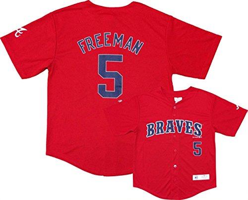 Freddie Freeman Atlanta Braves #5 Red Youth Player Fashion Jersey (X-Large 18/20)