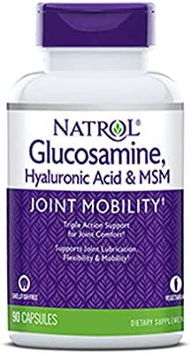 Natrol Vegetarian Hyaluronic Acid MSM and Glucosamine, 90 Count, Pack of 2