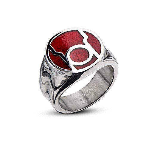 Dc comics red lantern corps stainless steel enamel