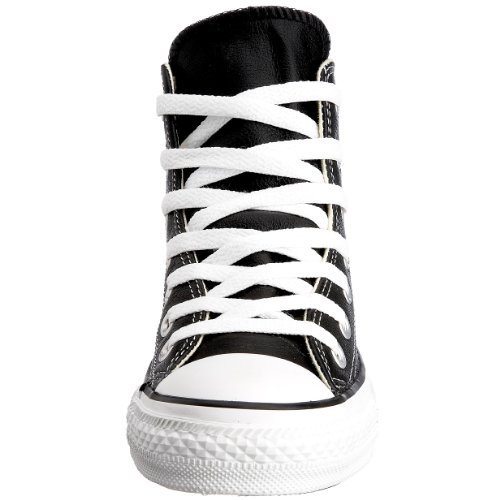 0164cb5218c17 Converse Unisex Chuck Taylor Leather Hi Black Sneaker - 8 Men - 10 ...