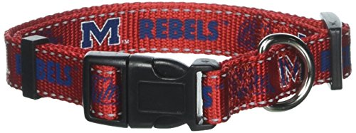 Pet Goods NCAA Mississippi Rebels Dog Collar, Medium