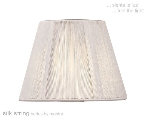 Silk string lamp shade ivory white amazon lighting silk string lamp shade ivory white aloadofball Image collections