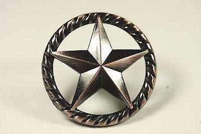 RAISED STAR KNOB AC WESTERN CABINET HARDWARE DRAWER PULLS TEXAS STAR KNOBS  (50)