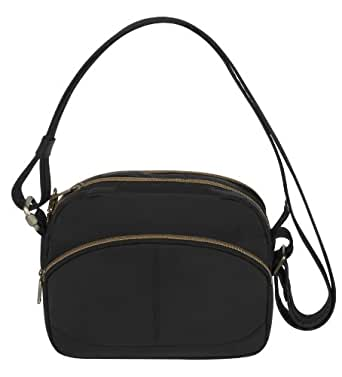 Travelon Anti-Theft Signature E W Shoulder Bag, Black, One Size