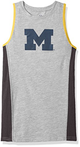 Outerstuff NCAA Michigan Wolverines Youth 8-20 Fan Gear Tank Shirt, Small (8), Heather Grey