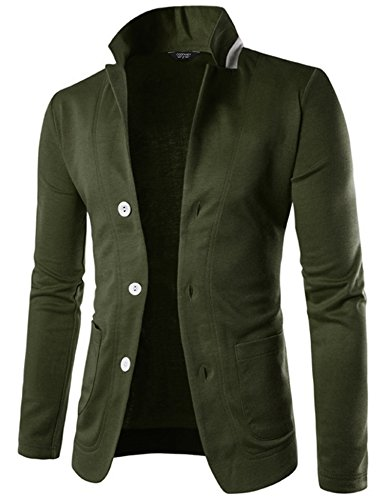 COOFANDY Mens Casual Slim Fit Blazer 3 Button Suit Sport Coat Lightweight ()