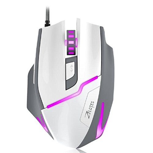 GBSELL 7200 DPI LED Optical Wired Gaming Game Mice Mouse For Laptop PC,White