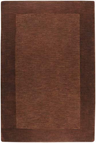 Surya M-294 Mystique Solids and Borders Rectangle Mocha 7'6