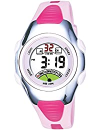 Girls Watches for Age 4-10 Round Sports Digital Kids...