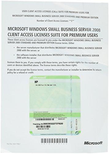 Nieuwe Windows Small Business Server 2008 Premium Edition – Licentie – CAL voor 1 gebruiker