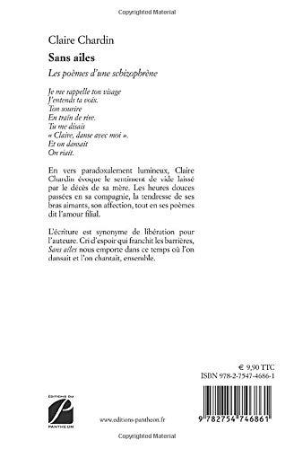 Sans Ailes Les Poèmes Dune Schizophrène French Edition