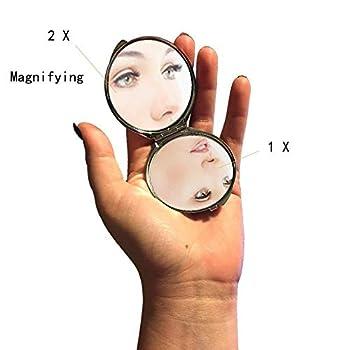 Mirror,Round Mirror,French Bulldog nemecka doga cierny pes les,pocket mirror,1 X 2X Magnifying