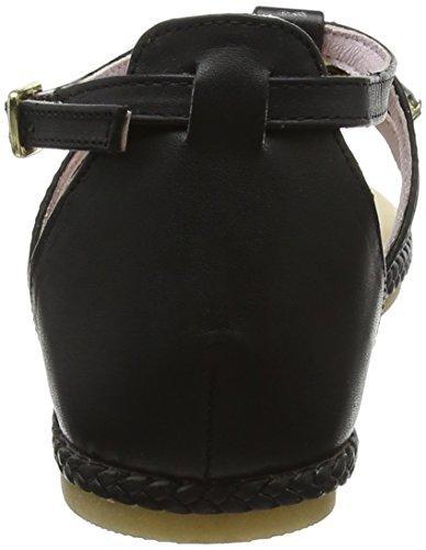 Mesdames Stonefly Lux 5 (405-11) Sandales Sangle De Cheville En Cuir Noir (noir 000)