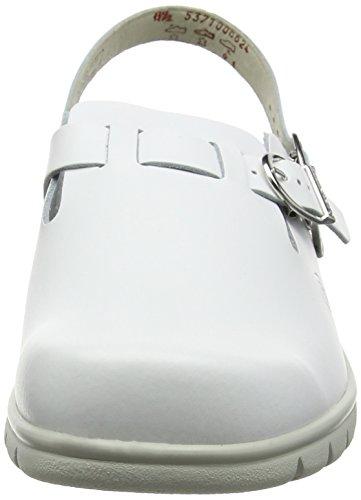 Berkemann Pasadena, Zuecos Unisex Adulto Blanco - Weiß (weiß 100)