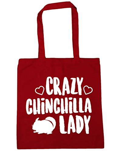 lady chinchilla Bag 42cm Classic Shopping HippoWarehouse litres Tote Red Gym x38cm 10 Beach Crazy 4BFcSwqE